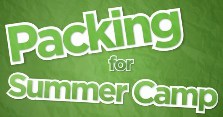 summer camp packing list pdf