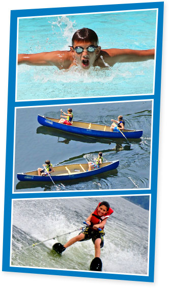 Aquatics Water Activities at Summer Camp for Boys