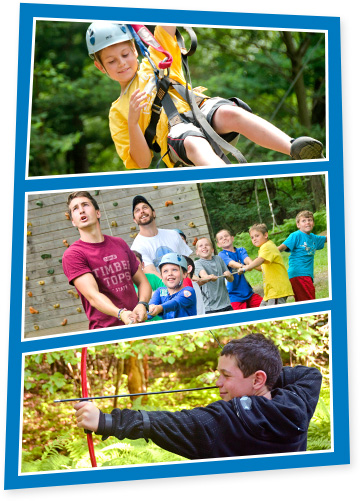 Outdoor Recreation Activities at Boys Sleepaway Camp
